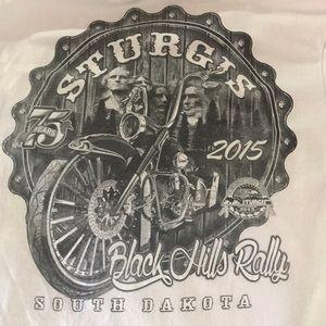 Sturgis 2015 white t-shirt 75 annual celebration